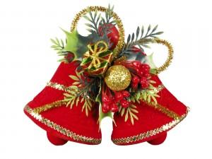 Postal: Campanas rojas para decorar en Navidad