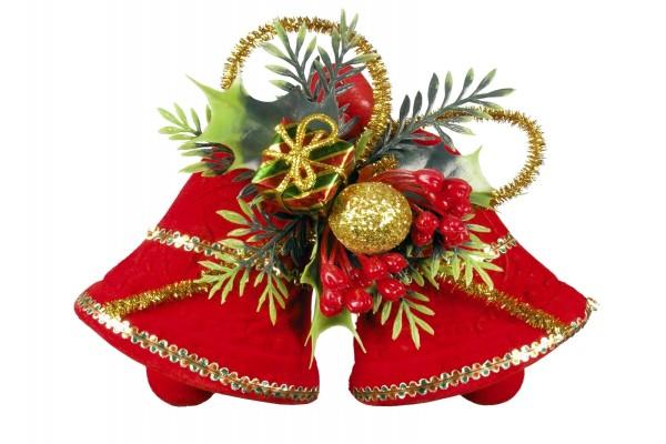 Campanas rojas para decorar en Navidad