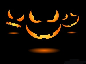 Postal: Calabazas malignas el día de Halloween