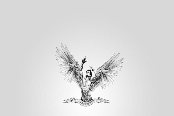 Un bello ángel masculino