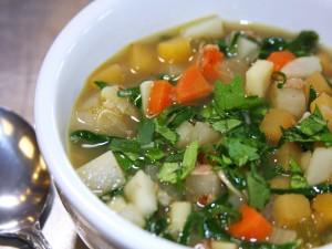 Postal: Sopa vegetariana de verduras
