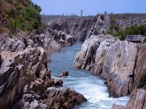 Río Narmada en la India