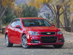 Chevrolet SS de un bonito color rojo