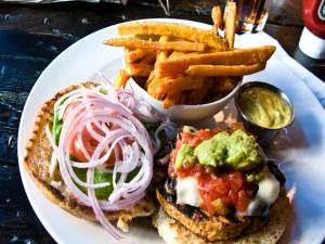 Una rica hamburguesa vegana