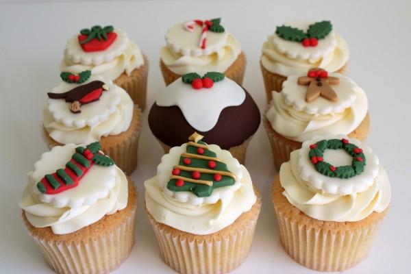 Bonitos cupcakes navideños