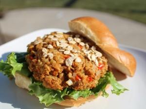 Una rica hamburguesa vegetariana