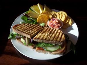 Un sándwich vegetariano