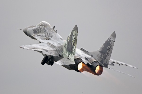 Despegue de un MiG-29AS