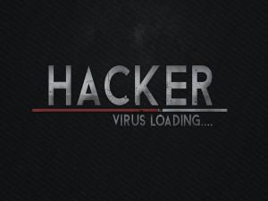 Hacker cargando virus