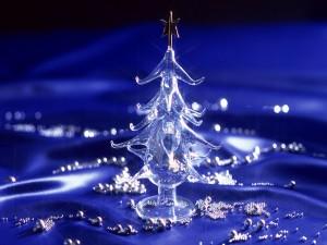 Postal: Árbol de Navidad de cristal
