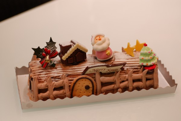 Un bonito pastel de Navidad