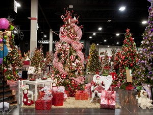 Postal: Tienda para comprar adornos de Navidad
