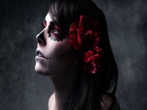 """Postal: Maquillaje para el """"Día de Muertos"""""""