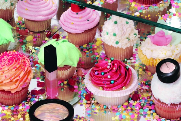 Cupcakes y maquillaje