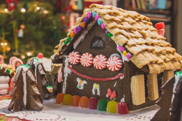 Gingerbread house de chocolate para Navidad