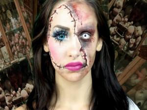 Mujer con un original maquillaje para Halloween
