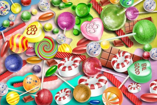 Imagen con diversos caramelos