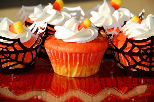 Unos ricos cupcakes de calabaza para festejar Halloween