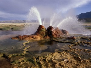 Fly Geyser, en el desierto de Black Rock (Nevada)