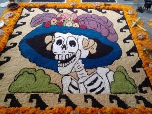 La Catrina y ofrendas el Día de Muertos en México