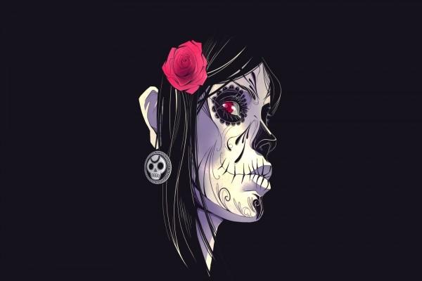 """El rostro de una mujer en el """"Día de Muertos"""""""