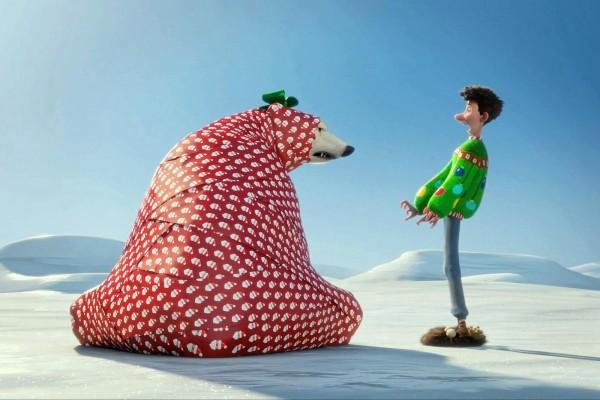 """Arthur con un oso polar """"Arthur Christmas"""" (Operación Regalo)"""