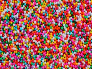 Pequeñas bolas de caramelo