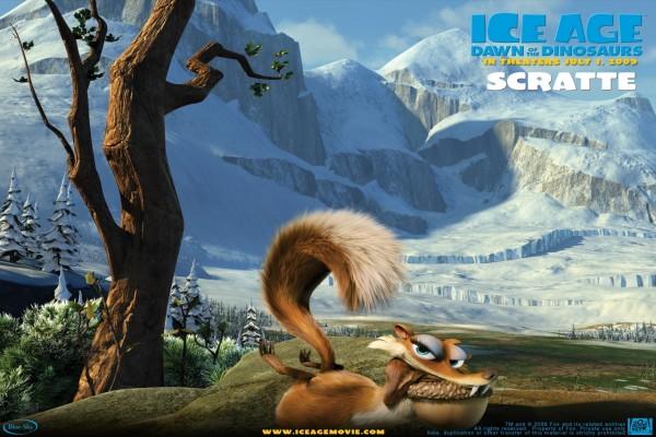 """Scratte en """"Ice Age: El Origen de los Dinosaurios"""""""