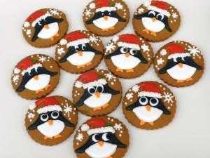 Galletas de pingüinos navideños