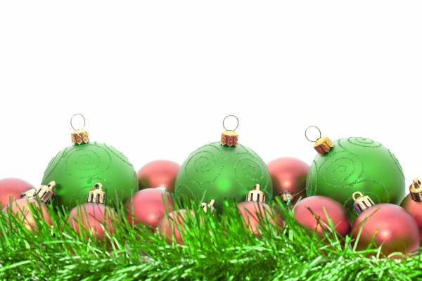 Bolas para el árbol de Navidad de color verde y rojo