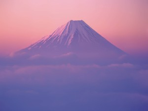 Preciosa vista del monte Fuji