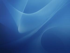 Postal: Fondo azul con curvas difuminadas
