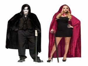 Postal: Hombre y mujer con disfraces para Halloween