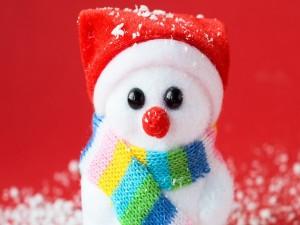 Postal: Un gracioso muñeco de nieve