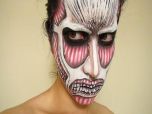 Postal: Original maquillaje para Halloween