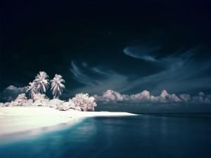Postal: Una playa blanca