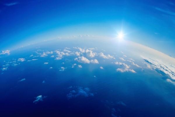 Foto del sol en perspectiva