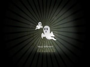 """Postal: """"Feliz Halloween"""" entre fantasmas y calaveras"""