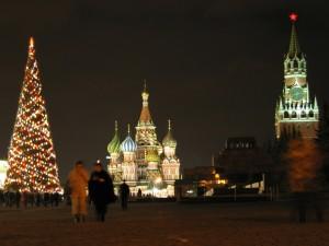 Postal: Árbol de Navidad en Moscú