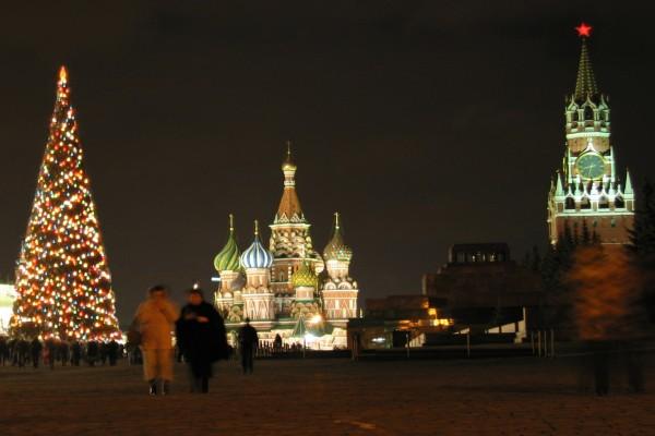 Árbol de Navidad en Moscú
