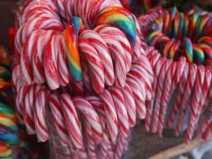 Bastones de caramelo