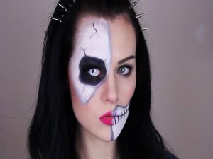 Cara maquillada para Halloween