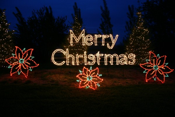 "Letrero luminoso ""Feliz Navidad"""