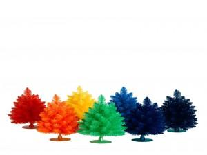 Abetos para Navidad de varios colores