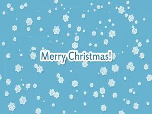 ¡Feliz Navidad! entre copos de nieve