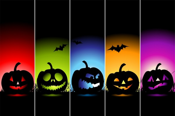 "Cinco calabazas diferentes en ""Halloween"""