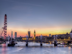 Postal: Atardecer en Londres