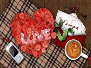 Postal: Mensajes de amor
