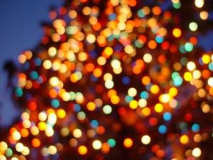 Luces de colores en Navidad