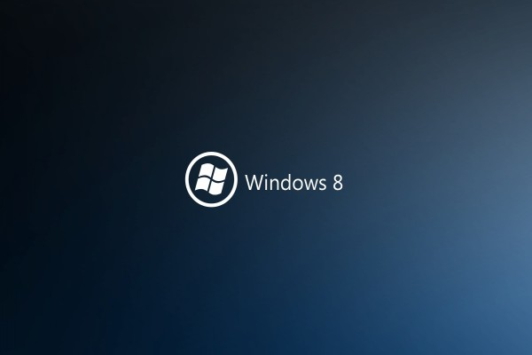 Windows 8 en letras blancas